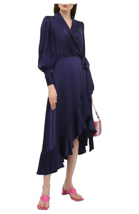 Женские кожаные мюли shawn BY FAR фуксия цвета, арт. 21SSSHWSHTPGRL | Фото 2