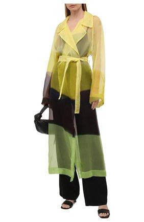 Женский шелковый тренч DRIES VAN NOTEN желтого цвета, арт. 211-10238-2086   Фото 2