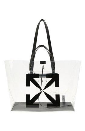 Женский сумка-шопер OFF-WHITE черного цвета, арт. 0MNA162S21PLA001 | Фото 1