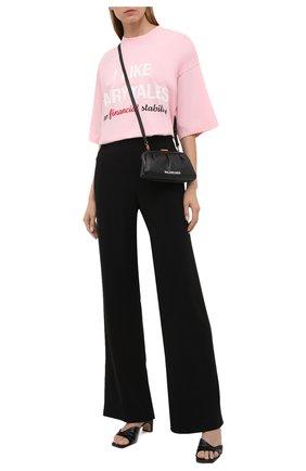 Женская хлопковая футболка VETEMENTS розового цвета, арт. UA52TR530P 1610/W | Фото 2
