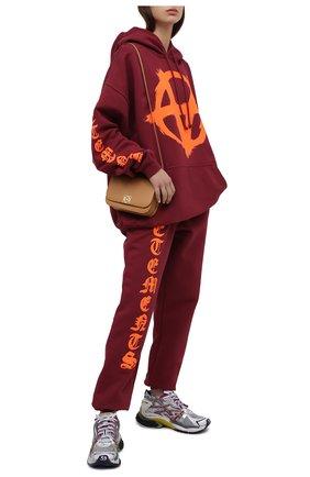 Женские хлопковые джоггеры VETEMENTS бордового цвета, арт. UA52PA270R 1601/W | Фото 2