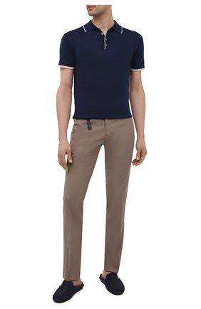 Мужские кожаные сабо ALDO BRUE темно-синего цвета, арт. AB0105.NS.21.P.P | Фото 2 (Материал внутренний: Натуральная кожа)