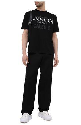Мужская хлопковая футболка lanvin x gallery dept LANVIN черного цвета, арт. RU-TS0005-J090-E21   Фото 2 (Материал внешний: Хлопок; Рукава: Короткие; Длина (для топов): Стандартные; Принт: С принтом; Стили: Гранж)