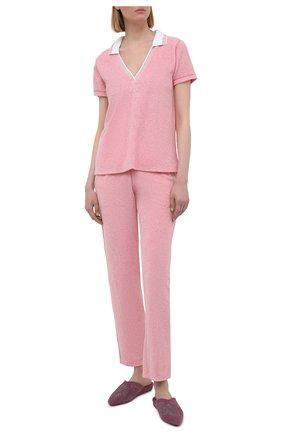 Женский хлопковый костюм LE CHAT розового цвета, арт. FARNIENTE131-FARNIENTE180 | Фото 1