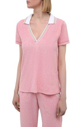 Женский хлопковый костюм LE CHAT розового цвета, арт. FARNIENTE131-FARNIENTE180 | Фото 2
