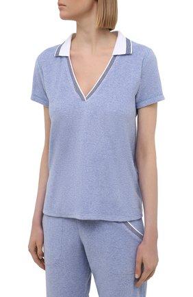 Женский хлопковый костюм LE CHAT голубого цвета, арт. FARNIENTE131-FARNIENTE180 | Фото 2