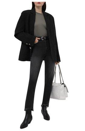 Женские джинсы DANIILBERG черного цвета, арт. JMMS01 | Фото 2