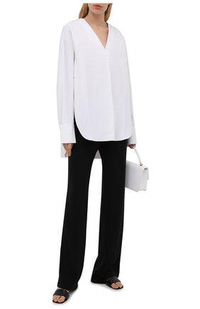 Женская хлопковая блузка DANIILBERG белого цвета, арт. BL001.20 | Фото 2