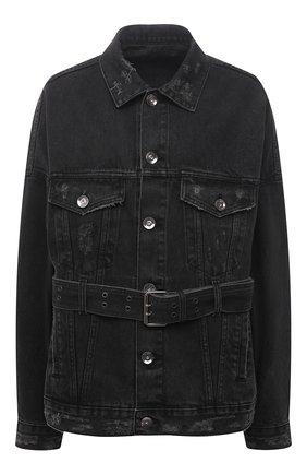 Женская джинсовая куртка DANIILBERG черного цвета, арт. DJ001 | Фото 1