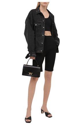 Женская джинсовая куртка DANIILBERG черного цвета, арт. DJ001 | Фото 2