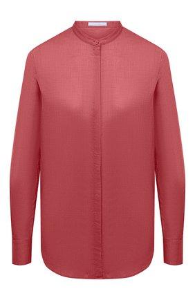 Женская хлопковая рубашка BOSS красного цвета, арт. 50436922 | Фото 1