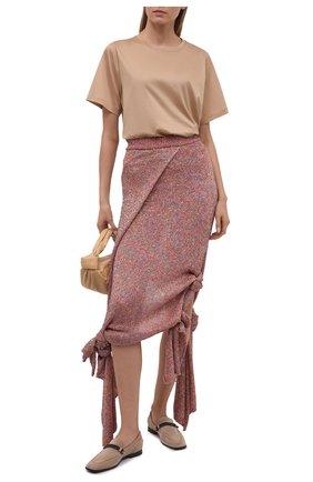 Женская юбка LOEWE розового цвета, арт. S540Y17K23 | Фото 2 (Стили: Бохо; Женское Кросс-КТ: Юбка-одежда; Материал внешний: Синтетический материал; Кросс-КТ: Трикотаж; Материал подклада: Вискоза; Длина Ж (юбки, платья, шорты): Макси)