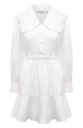 Женское хлопковое платье SELF-PORTRAIT белого цвета, арт. SS21-011D | Фото 1