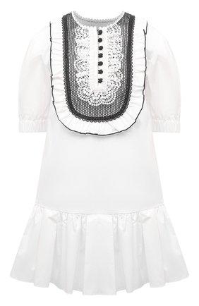 Женское хлопковое платье SELF-PORTRAIT белого цвета, арт. SS21-022S | Фото 1