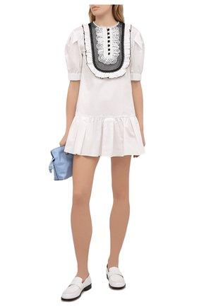 Женское хлопковое платье SELF-PORTRAIT белого цвета, арт. SS21-022S | Фото 2
