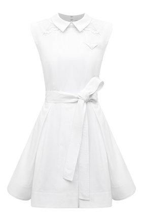 Женское хлопковое платье SELF-PORTRAIT белого цвета, арт. SS21-045M | Фото 1