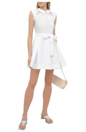 Женское хлопковое платье SELF-PORTRAIT белого цвета, арт. SS21-045M | Фото 2