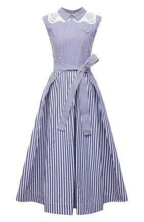 Женское хлопковое платье SELF-PORTRAIT голубого цвета, арт. SS21-045MS   Фото 1