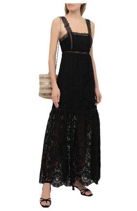 Женское платье SELF-PORTRAIT черного цвета, арт. SS21-088L | Фото 2