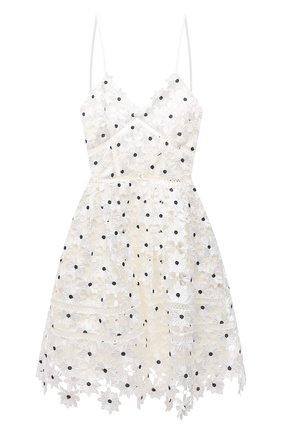 Женское платье SELF-PORTRAIT белого цвета, арт. SS21-089W | Фото 1