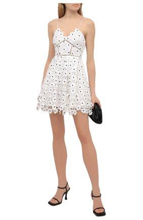 Женское платье SELF-PORTRAIT белого цвета, арт. SS21-089W | Фото 2