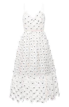 Женское платье SELF-PORTRAIT белого цвета, арт. SS21-089WM | Фото 1