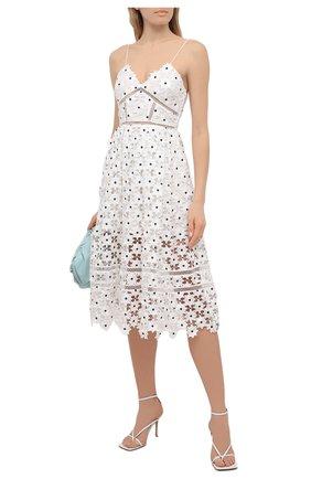 Женское платье SELF-PORTRAIT белого цвета, арт. SS21-089WM | Фото 2
