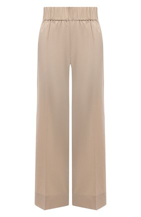 Женские хлопковые брюки BY MALENE BIRGER бежевого цвета, арт. Q70173010/MIZ0NI   Фото 1