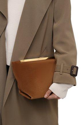 Женская сумка augusta KHAITE коричневого цвета, арт. H3002-710/AUGUSTA | Фото 2 (Сумки-технические: Сумки через плечо; Ремень/цепочка: На ремешке; Материал: Натуральная кожа; Размер: medium)