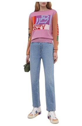 Женские кожаные кроссовки custom 2.zero DOLCE & GABBANA разноцветного цвета, арт. CK1870/A0543 | Фото 2