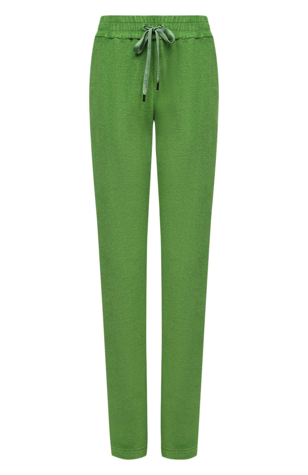 Женские хлопковые брюки TOM FORD салатового цвета, арт. PAJ071-FAX830 | Фото 1