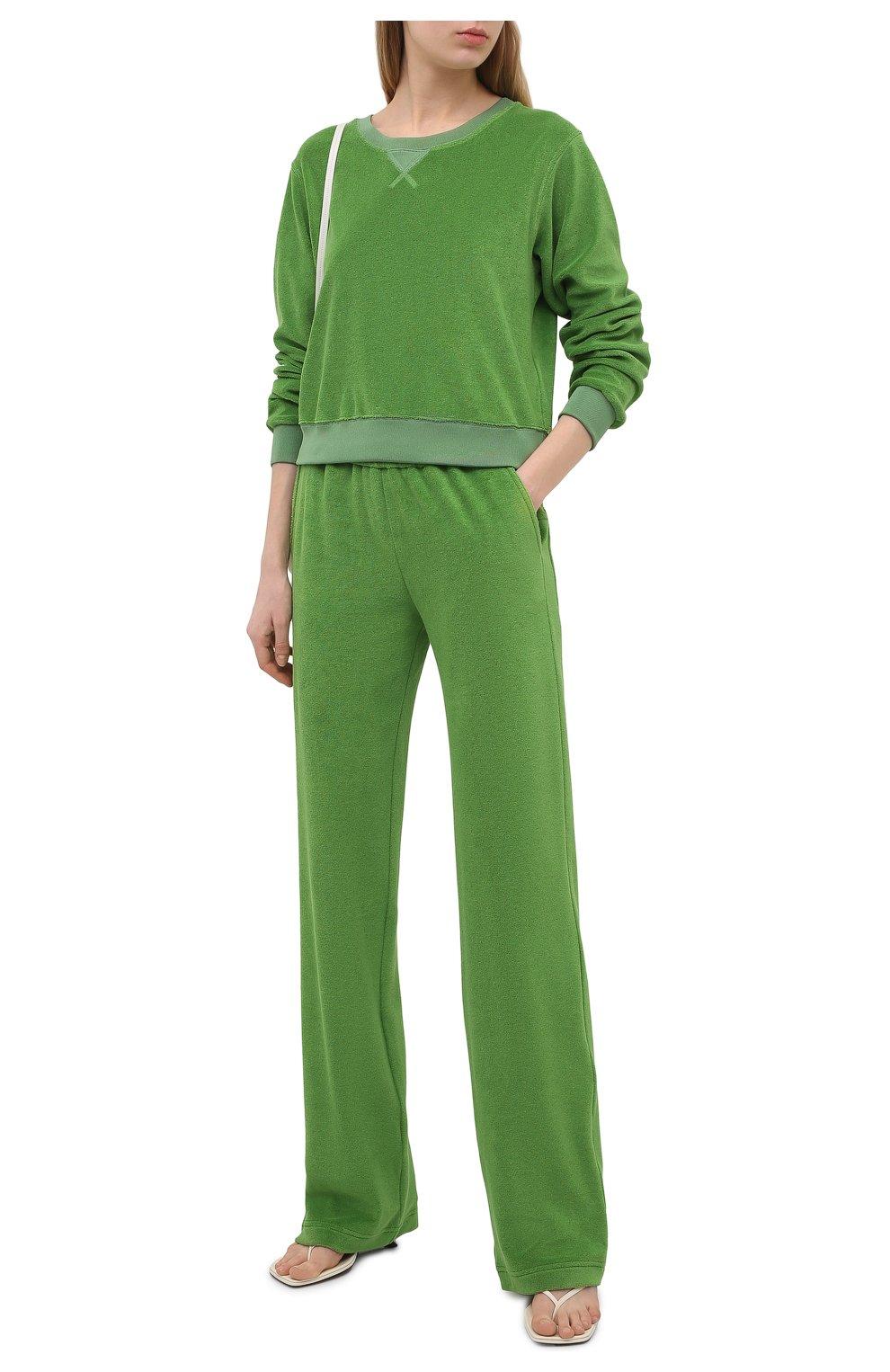 Женские хлопковые брюки TOM FORD салатового цвета, арт. PAJ071-FAX830 | Фото 2