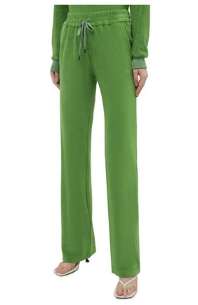 Женские хлопковые брюки TOM FORD салатового цвета, арт. PAJ071-FAX830 | Фото 3