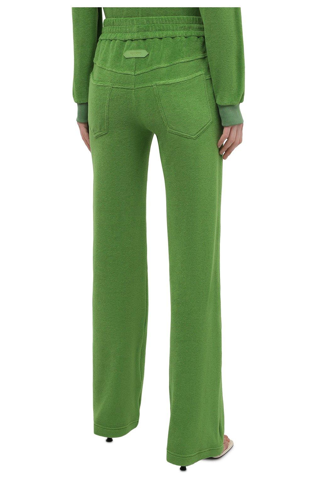 Женские хлопковые брюки TOM FORD салатового цвета, арт. PAJ071-FAX830 | Фото 4