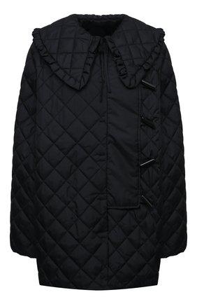 Женская стеганая куртка GANNI черного цвета, арт. F5812 | Фото 1