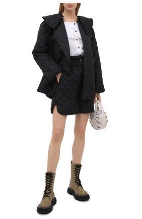 Женская стеганая куртка GANNI черного цвета, арт. F5812 | Фото 2