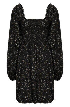 Женское платье из вискозы GANNI черного цвета, арт. F5734 | Фото 1