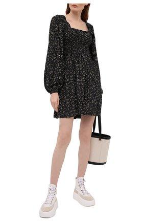 Женское платье из вискозы GANNI черного цвета, арт. F5734 | Фото 2