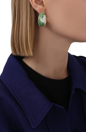 Женские серьги BOTTEGA VENETA зеленого цвета, арт. 657260/V5081 | Фото 2