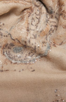 Женский шарф из кашемира и шелка BRUNELLO CUCINELLI бежевого цвета, арт. MSC92R059P | Фото 2