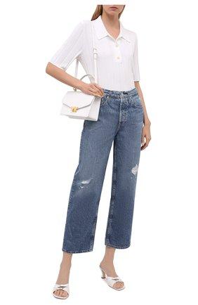 Женские джинсы AG синего цвета, арт. LGN1A98/INLA/USA | Фото 2