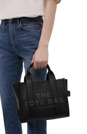 Женская сумка-тоут traveller mini MARC JACOBS (THE) черного цвета, арт. H009L01SP21   Фото 2