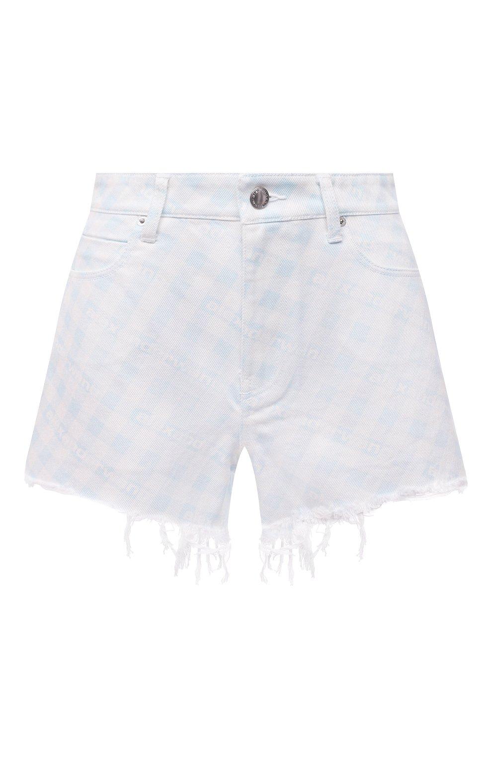Женские джинсовые шорты DENIM X ALEXANDER WANG голубого цвета, арт. 4DC2214938 | Фото 1 (Женское Кросс-КТ: Шорты-одежда; Кросс-КТ: Деним; Длина Ж (юбки, платья, шорты): Мини; Материал внешний: Хлопок; Стили: Спорт-шик)