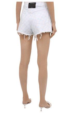 Женские джинсовые шорты DENIM X ALEXANDER WANG голубого цвета, арт. 4DC2214938 | Фото 4 (Женское Кросс-КТ: Шорты-одежда; Кросс-КТ: Деним; Длина Ж (юбки, платья, шорты): Мини; Материал внешний: Хлопок; Стили: Спорт-шик)