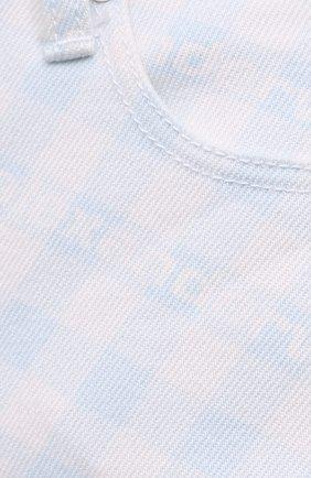 Женские джинсовые шорты DENIM X ALEXANDER WANG голубого цвета, арт. 4DC2214938 | Фото 5 (Женское Кросс-КТ: Шорты-одежда; Кросс-КТ: Деним; Длина Ж (юбки, платья, шорты): Мини; Материал внешний: Хлопок; Стили: Спорт-шик)