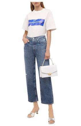 Женская хлопковая футболка ALEXANDER WANG белого цвета, арт. UCC2211424 | Фото 2