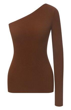 Женский пуловер из вискозы POLO RALPH LAUREN коричневого цвета, арт. 211839014 | Фото 1 (Материал внешний: Синтетический материал, Вискоза; Длина (для топов): Стандартные; Кросс-КТ: с рукавом, Трикотаж; Рукава: Длинные; Стили: Кэжуэл)