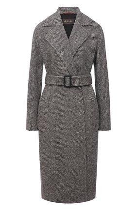 Женское кашемировое пальто LORO PIANA серого цвета, арт. FAL7921 | Фото 1