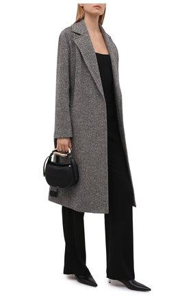 Женское кашемировое пальто LORO PIANA серого цвета, арт. FAL7921 | Фото 2