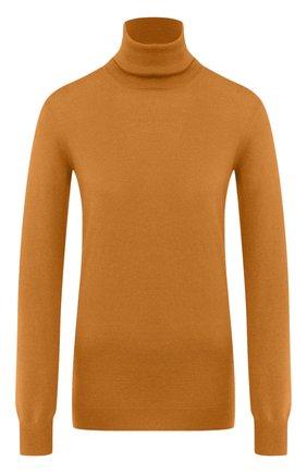 Женская кашемировая водолазка LORO PIANA желтого цвета, арт. FAC4672   Фото 1 (Материал внешний: Шерсть, Кашемир; Длина (для топов): Стандартные; Рукава: Длинные; Стили: Кэжуэл; Женское Кросс-КТ: Водолазка-одежда)